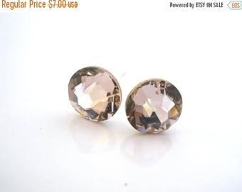 SALE Swarovski Crystal Stud Earrings, Crystal Earrings, Pink Earrings, Pink Studs, Antique Pink, Bridesmaid Gifts, Bridesmaid Earrings