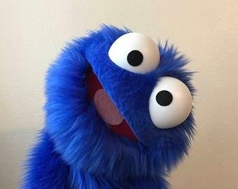 Professional Blue Furry Monster Puppet