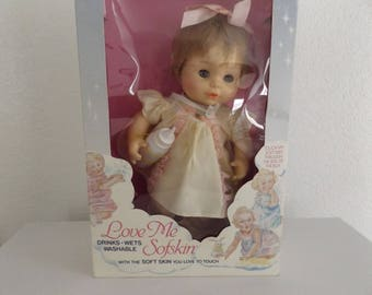 Vintage Horsman Baby Doll / Drinks Wets Washable / Love Me Sofskin / Original Box