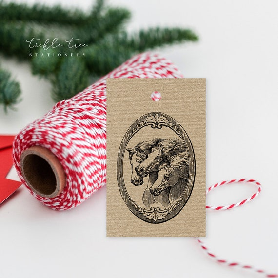 Christmas Gift Tags - Vintage Horses