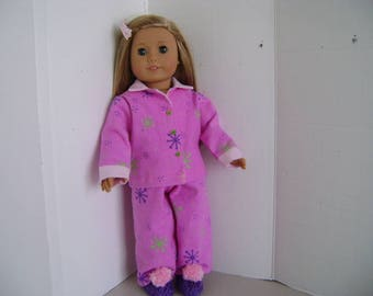 """Handmade """"Snowflake"""" Pyjamas fit """"Isabelle"""" A.G. Doll and all 18"""" Dolls"""