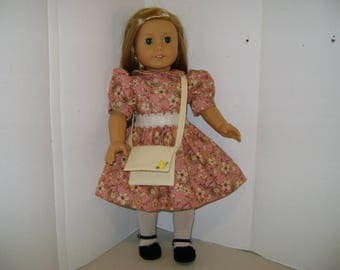 """Handmade Dress Outfit for """"Isabelle"""" A.G. Doll and all 18"""" Dolls"""