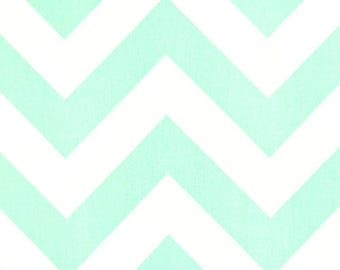 50% OFF Mint Green Large Chevron Throw Pillow Cover. 20X20 Inches Zippy Cushion Covers.