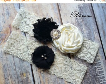 SALE PICK YOUR Color Black Bridal Garter Set