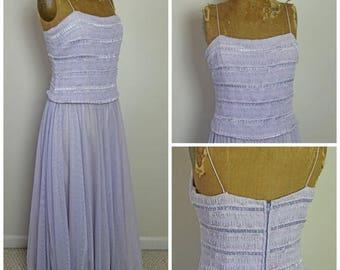 ON SALE 1960s Lavender Tulle Dress