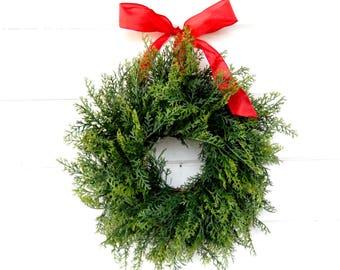 Christmas MINI Wreath-Winter Wreath-Holiday Wreath- CEDAR Wreath-SCENTED Wreath-Holiday Home Decor-Christmas Wreath-Small Mini Wreath-Gifts