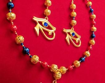 Egyptian Eye of Horus Jewellery Set
