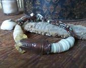 Cicada macrame bracelet