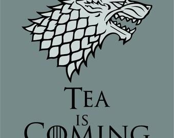 Grey Tea Is Coming Coaster