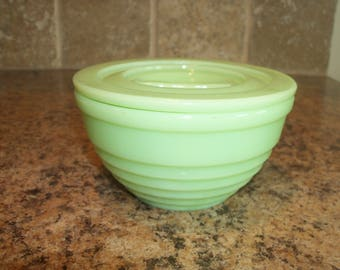 FREE USA SHIPPING-Vintage Jeannette Jadeite Jadite Green Depression Glass Refrigerator Drippings Bowl