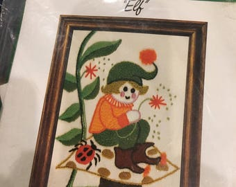 Stitchery embroidery creative crewel kit ELF unopened wonderart
