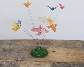Vintage New Designs Inc Flying Birds Sculpture Acrylic Lucite