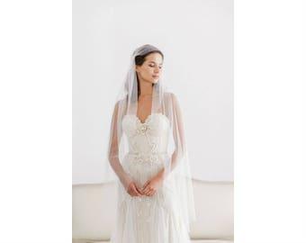 Juliet cap wedding veil, Silk style juliet cap wedding veil, Silk juliet cap wedding veil