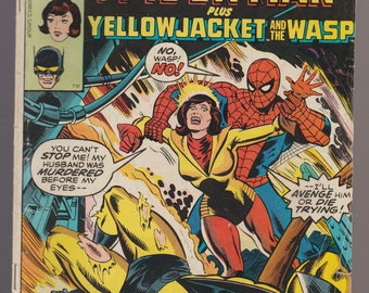 Marvel Team Up Spider-Man Yellow Jacket WASP Pub. Marvel 1977