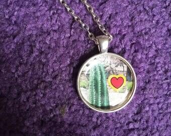 Cactus Heart Necklace