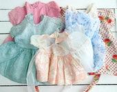 5 Piece Lot Vintage Doll Dresses