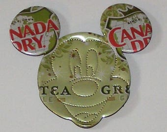 MICKEY/Minnie MOUSE Magnet  - Canada Dry Ginger Ale Green Tea - Perforated Face