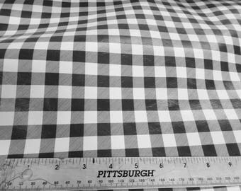 Leather 3 or 4 or 5 or 6 sq ft Mini BUFFALO PLAID WHITE and Black Cowhide Digital Print 2 oz/ 0.8 mm PeggySueAlso™ E1180-02