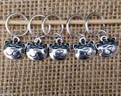 Cat stitch markers, set of five