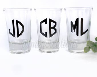 Groomsman Shot Glasses | Personalized Custom Shot Glasses | Father's Day Gift | Bachelor Party Shot Glass | Bachelor Party Favors Gift