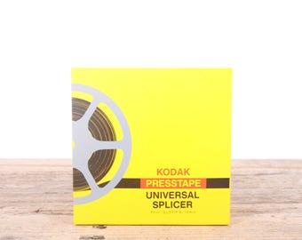 Vintage Kodak Presstape Universal Splicer / 8mm Super 8 18 mm Eastman Kodak Company Film Splicer / New in Box / Camera Decor Set Prop