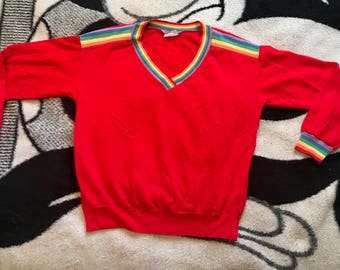 Vintage long sleeved rainbow shirt
