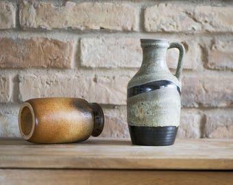 Vintage Marei Keramik vase, Grey Pitcher Vase 3051 West German pottery, modern minimalist home decor, collectible vase gift 60s Modernist