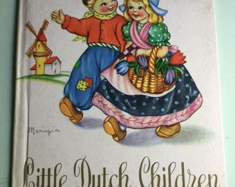 Little Dutch Children vintage hardback book by Purnell