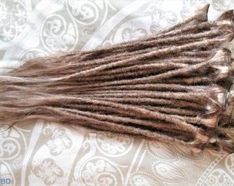 """CUSTOM Human hair dreadlock extenders extensions, 18"""" hair, 20 pcs"""