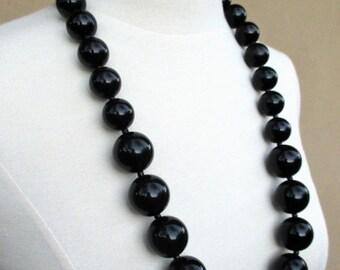 50% Off, Summer SALE Kenneth Lane Black Beaded Necklace