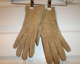 Vintage Leather Gloves Suede Gloves New Old Stock
