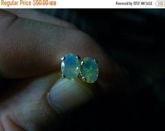 SUMMER SALE New 1.00ct  7x5 Ethiopian Opal Faceted Earrings