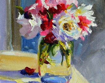 TUINROSE,  Art Print, still life of roses, mason jar
