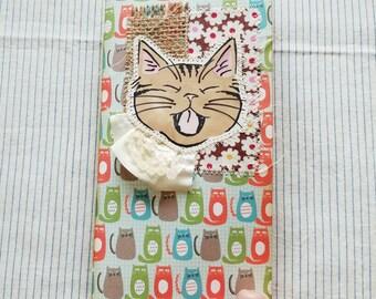 Cat Theme Journal / Junk Journal / Midori Traveler's Notebook insert /