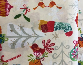 Makeower 1228 Cool Yule Scatter 100% Cotton Fabric by the Half Metre