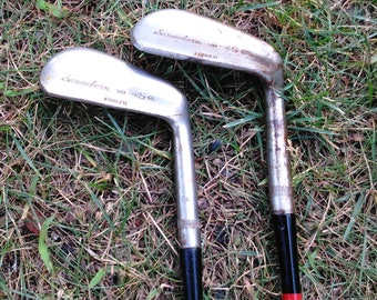Vintage Golf Clubs - Wooden Golf Clubs - Set of 2 - Golf Irons - Sonmeborm