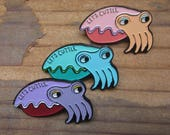 Cuttlefish Pin - Soft Enamel Cuttle Fish Pin - Let's Cuttle PIn