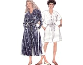 Easy Loose Fitting Jumpsuit or Romper Uncut Simplicity Sewing Pattern 7393 Size 8 to 20 Bust 31.5 to 42 V Neck/Culottes/