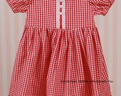 Perfect Red and White Gingham Dress