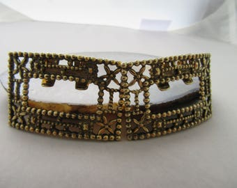 Vintage Tip Toe Shoe Clips with Metal Stars on the Corner 2 Pr Silver & Gold