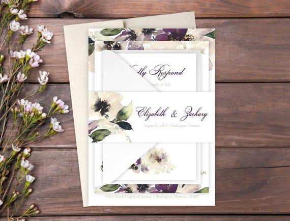 Sample vintage garden wedding invitation suite floral wedding il570xn filmwisefo