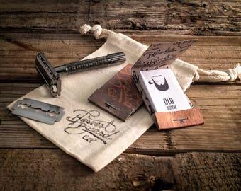 RAZOR Beard KIT: Double Edge Safety Razor Kit – Beard grooming or shaving