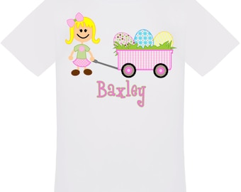 Personalized Easter Wagon T-Shirt