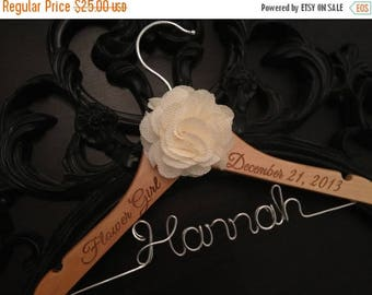 XMAS IN JULY Flower Girl Hanger / Childrens Hanger / Wedding Hanger / Bridal Hanger / Kids Hanger / Personalized Hanger / Baby Hanger / Flow