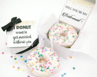 Bridesmaid Proposal Maid of Honor Proposal Will you be my Bridesmaid I Donut Want To Get Married Without You Flower girl Proposal Goats milk