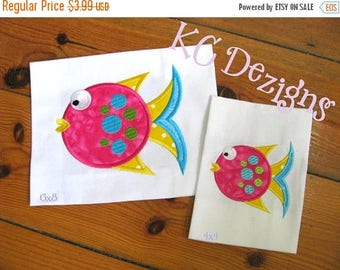 ON SALE Tropical Fish 02 Machine Applique Embroidery Design - 4x4, 5x7 & 6x8