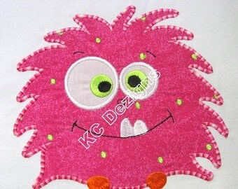 ON SALE Cute Monsters 04 Machine Applique Embroidery Design - 4x4, 5x7 & 6x8