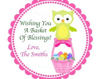 Easter Owl Basket Labels