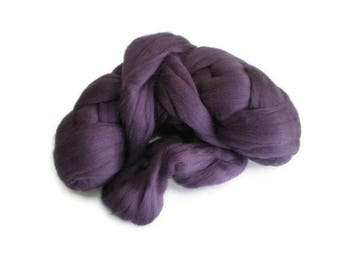 Purple Plum Merino Wool  Fleece Roving for Felting or Spinning Australian Fleece