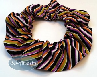Halloween Dog Scrunchie Neck Ruffle, Diagonal Stripes, Halloween Pet Scrunchie